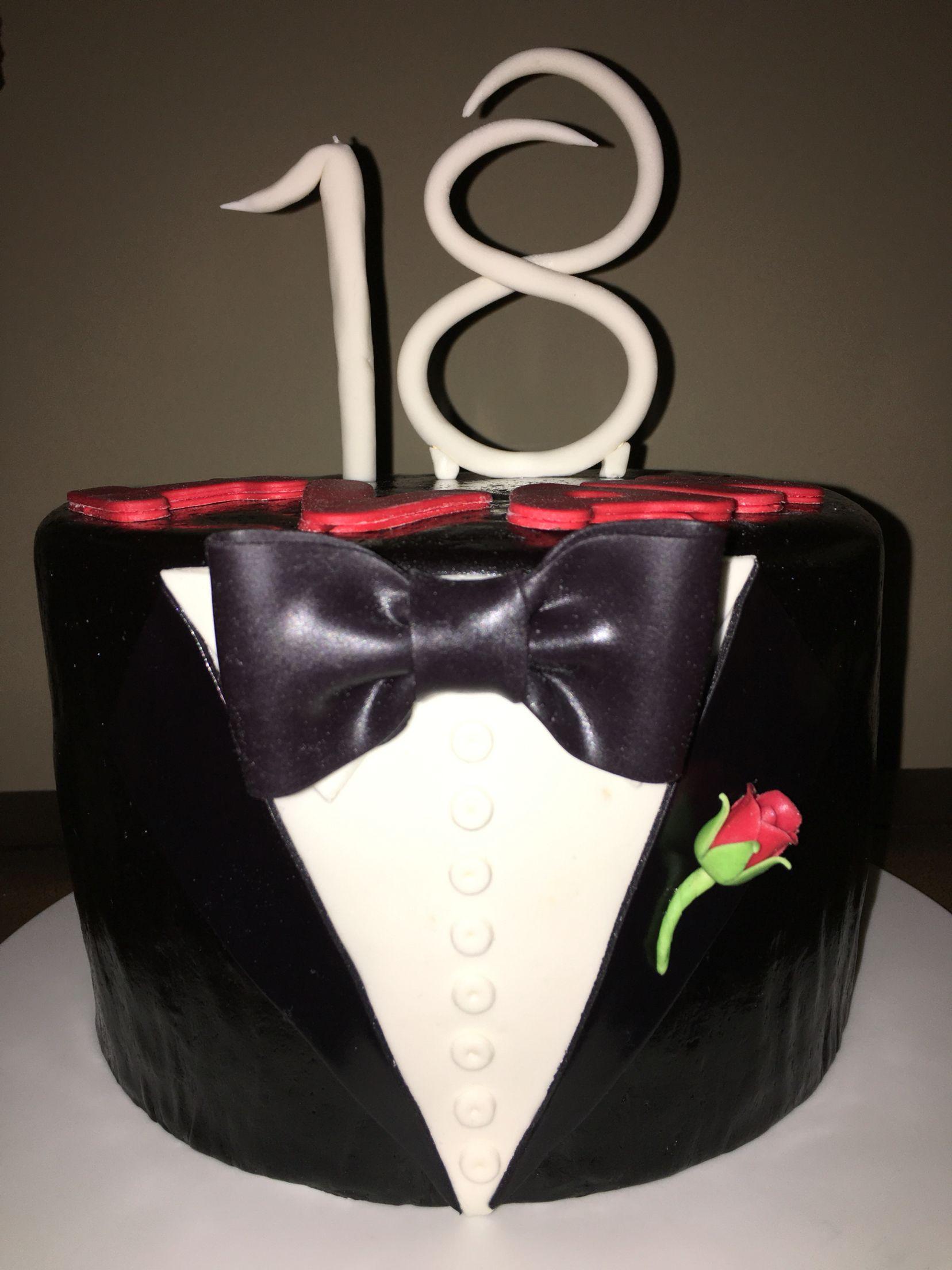 Tuxedo-themed Cake