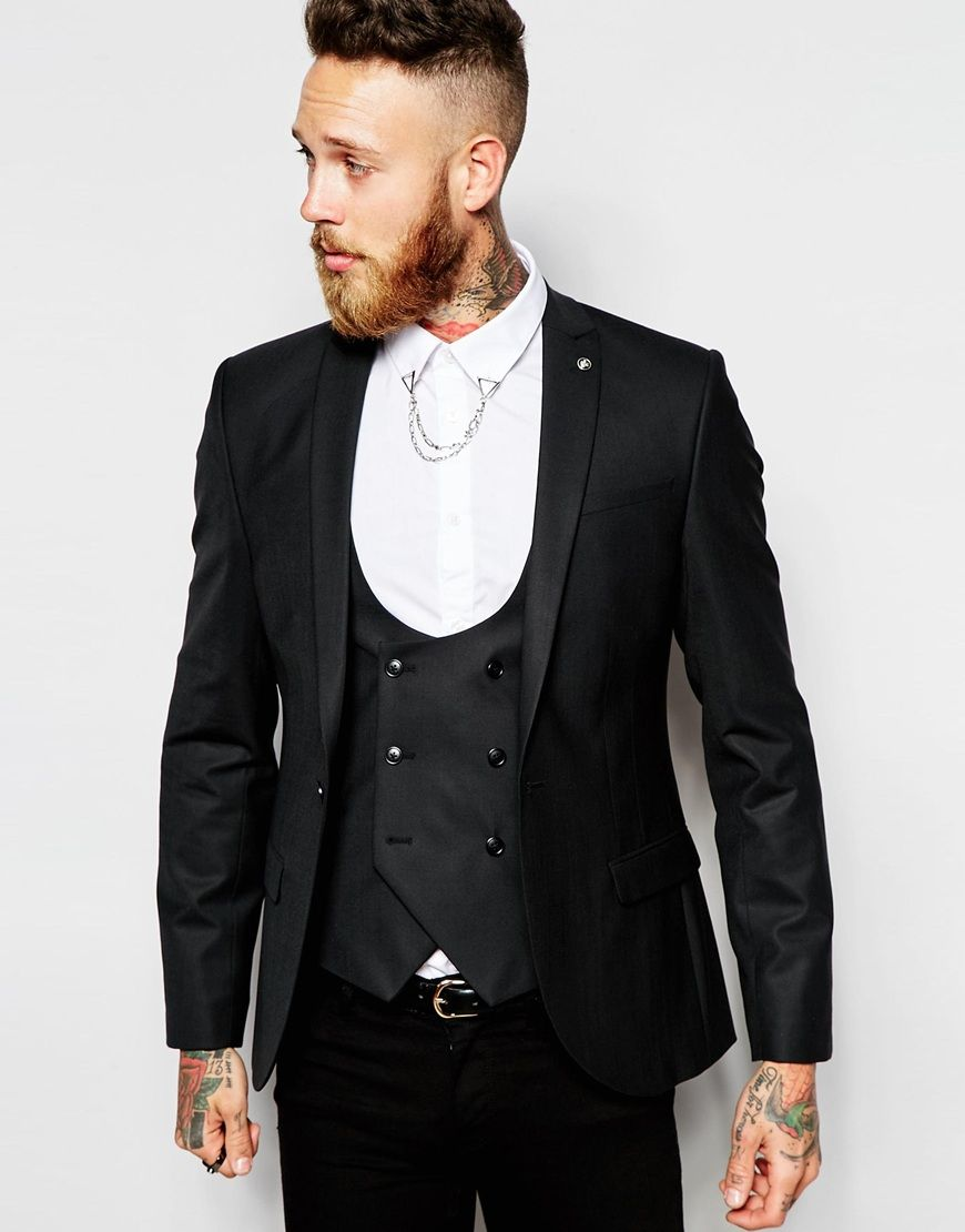Religion X Noose & Monkey Super Skinny Fit Suit Jacket With ...