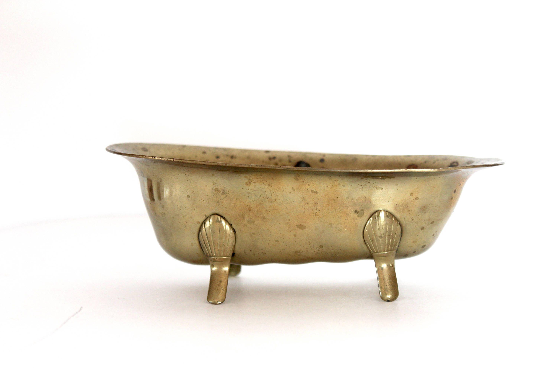Vintage Mid Century Brass Bathtub Soap Dish Vintage Soap Dish