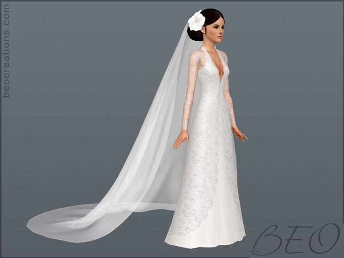 Sims 4 Wedding Veil.Beo Creations Long Veil Sims 3 Sims 3 Wedding Sims 4 Wedding