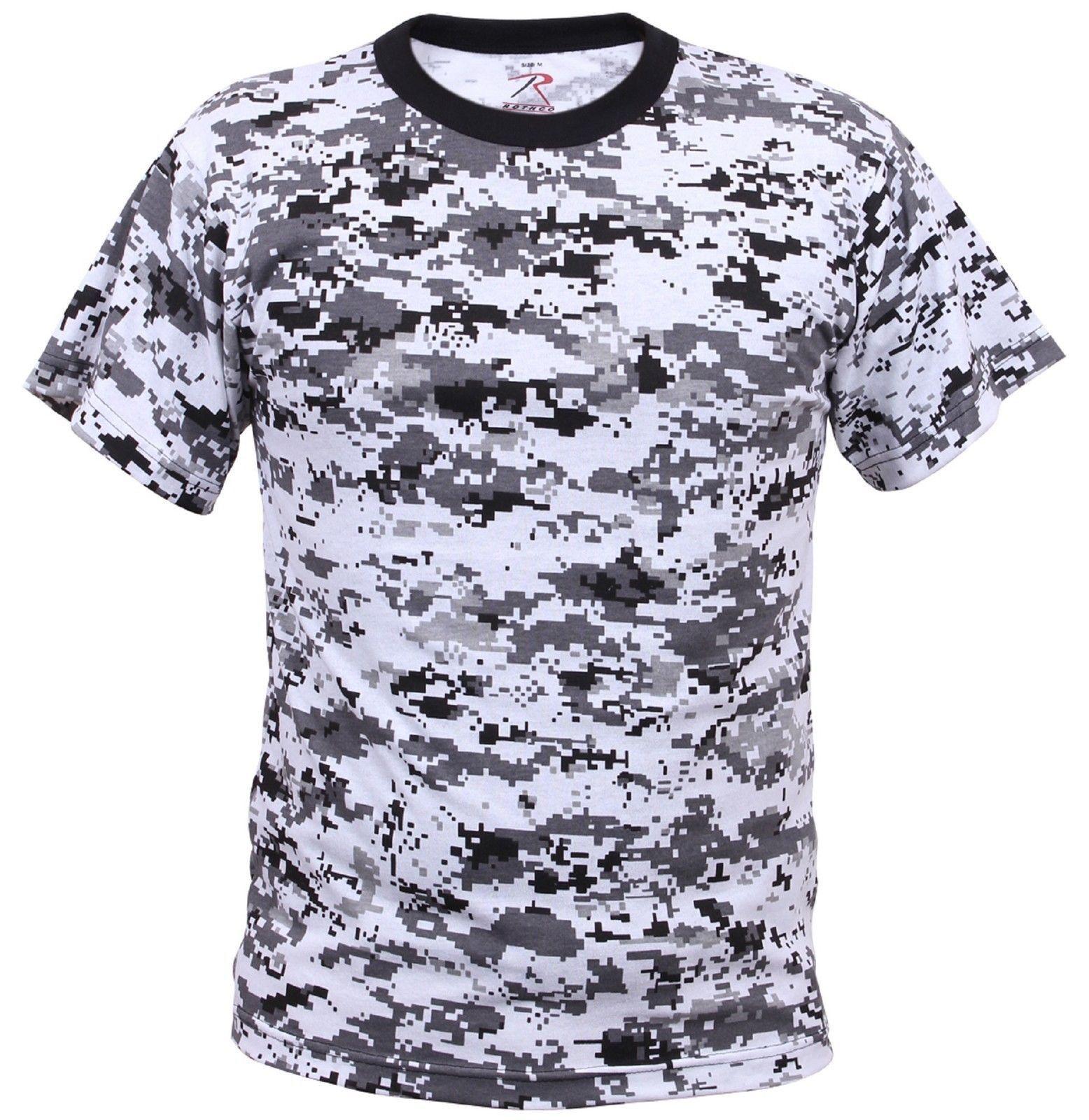 Boy's & Girl's Digital Camouflage T-Shirt - Kid's Sky Blue or City Digital Tee's