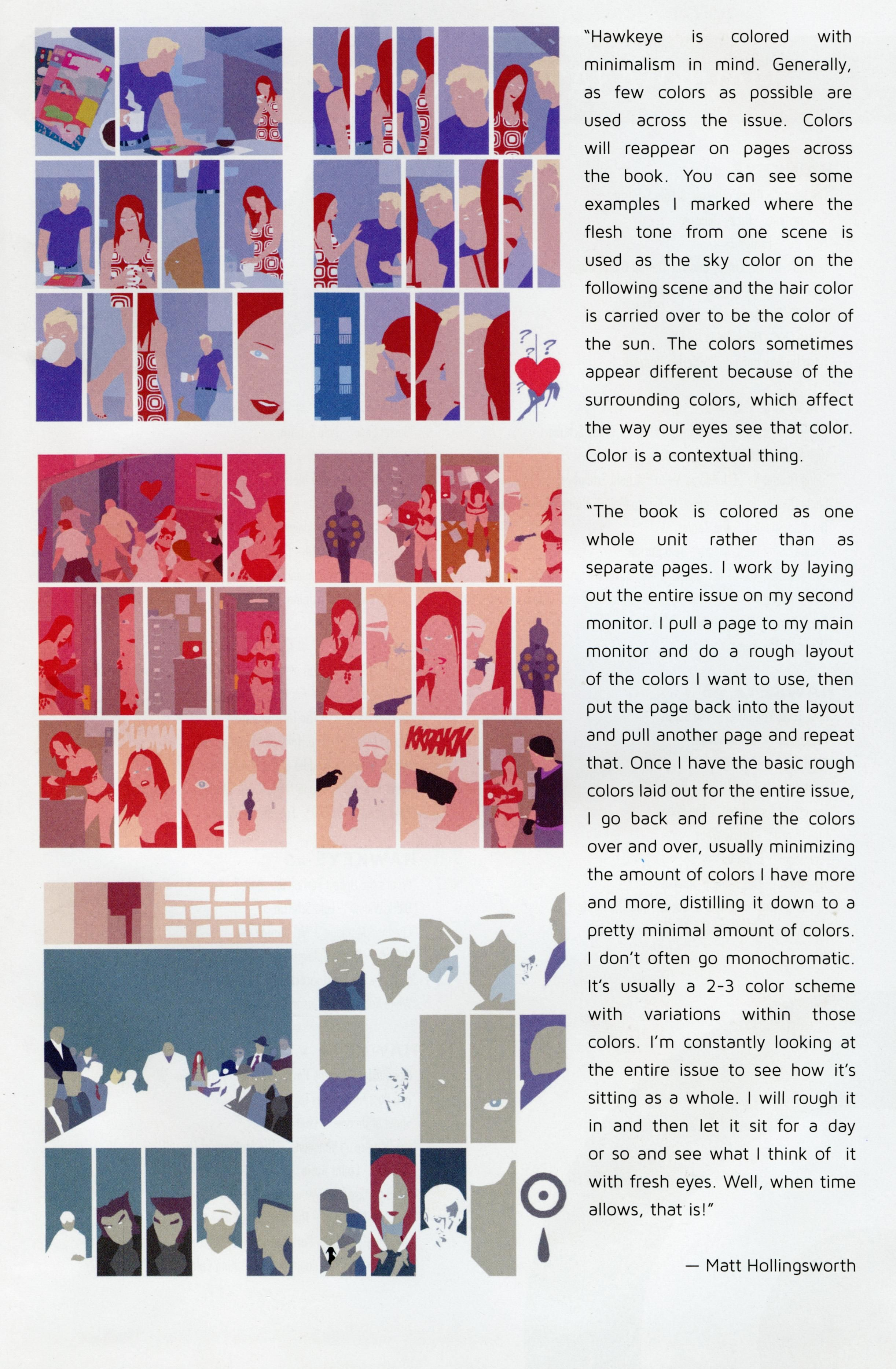 Book color scheme -  Part 2 A Message Color Guides From Matt Hollingsworth The Color Artist