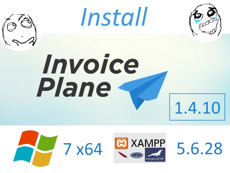 Install InvoicePlane v1.4.10 on Windows 7 localhost XAMPP 5.6.28 - open source PHP invoices software