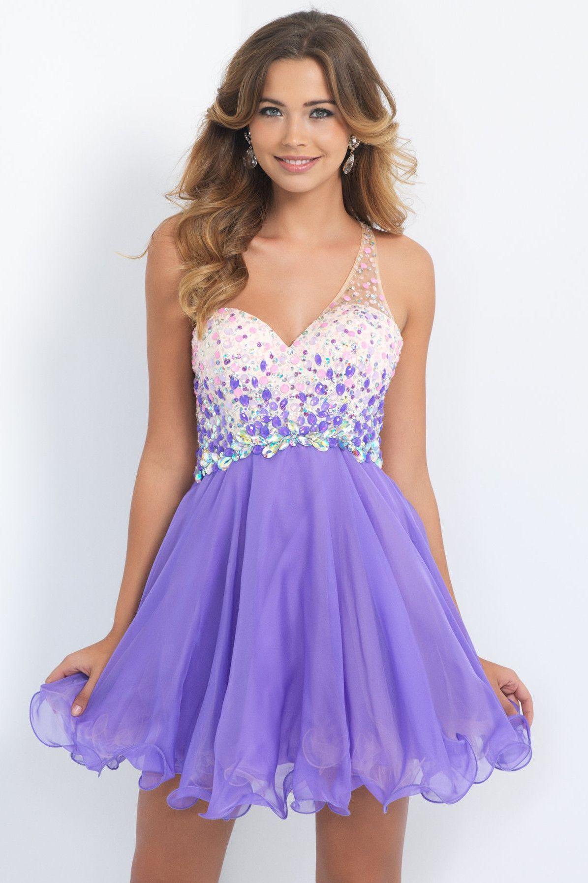 Violet homecoming dresses one shoulder sleeveless sequins