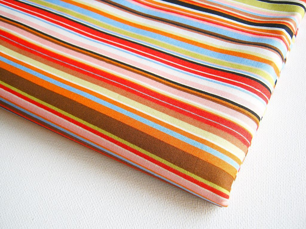 Cotton Fabric Stripe Paul Style Smith pattern Orange Yellow Green blue red,  Baby shower, Gift Bag, Curtain, Lady Dress, pillow cover, CT060