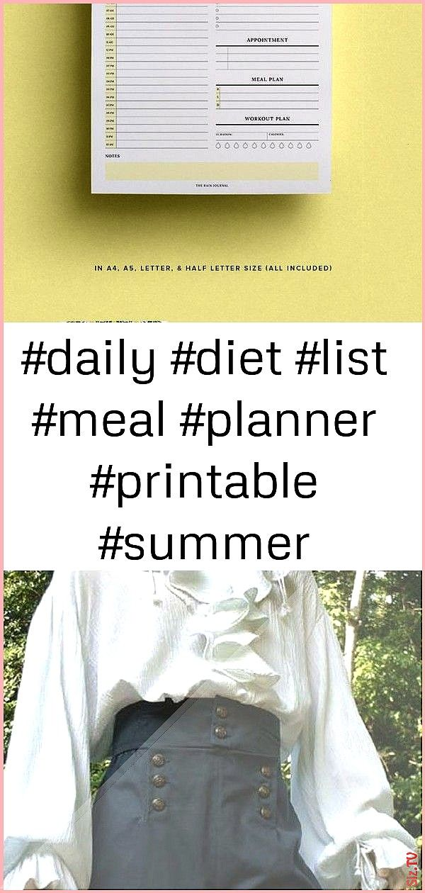 diet list meal planner printable summer tracker water workout my summer daily plan 2 daily diet list meal planner printable summer tracker water workout my summer daily p...