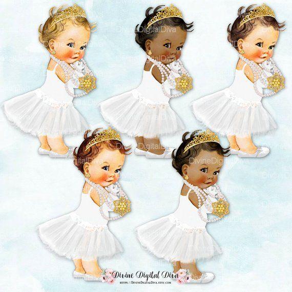 178b450ec3921 Audrey Hepburn   Pearls Gold Tiara White Tutu   Princess Ballerina ...