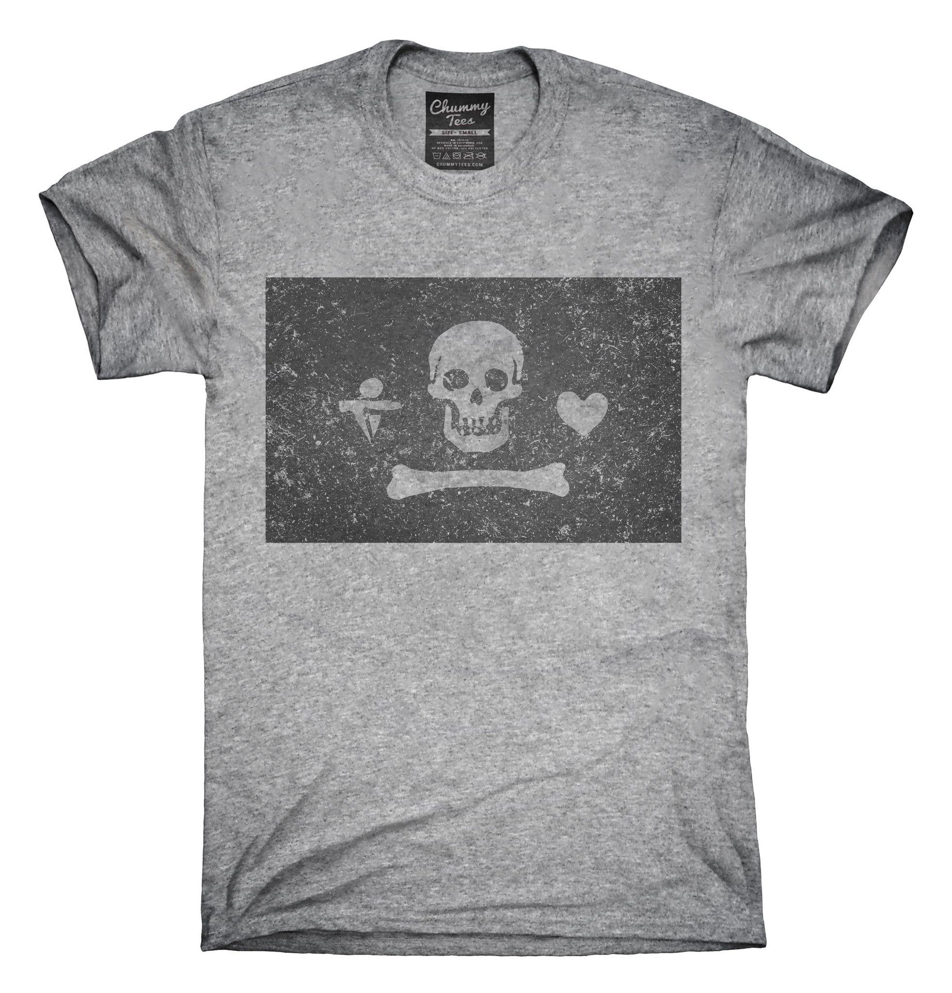 Retro Vintage Stede Bonnet Pirate Flag T-Shirts, Hoodies, Tank Tops ...