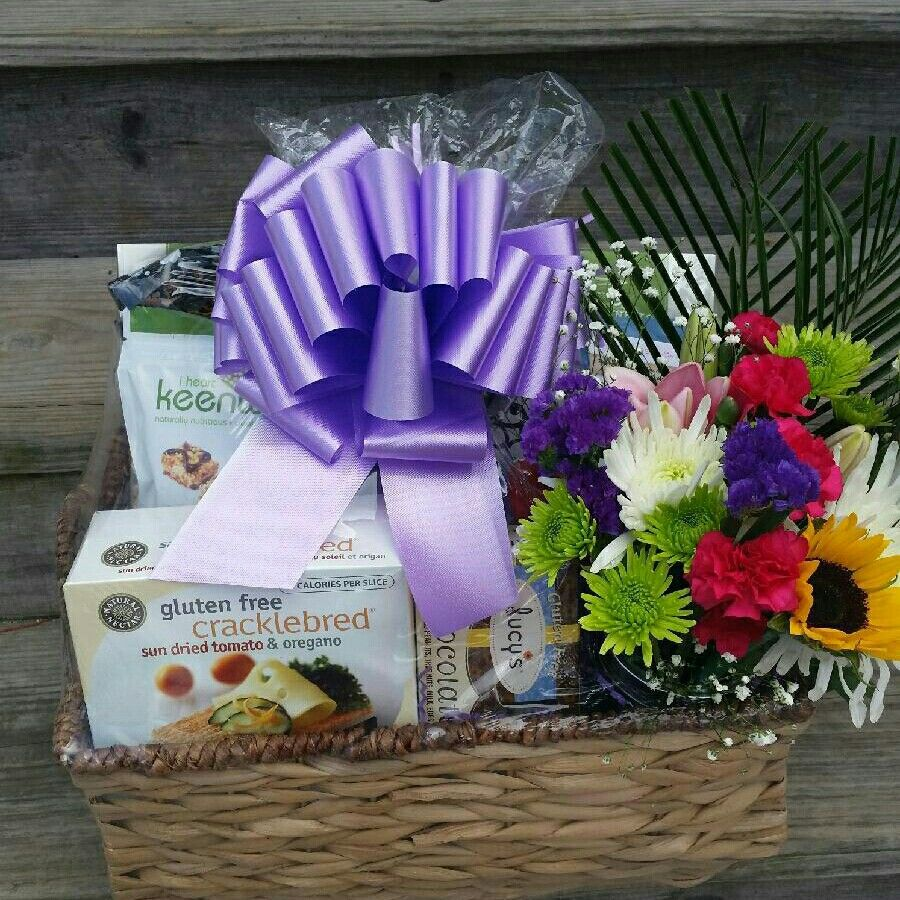 Gluten free gift basket for a customers wife on mothers
