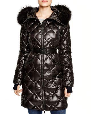 DIANE von FURSTENBERG Bonnie Fur Trim Hooded Puffer Coat | Bloomingdale's .... stunning, need, want !