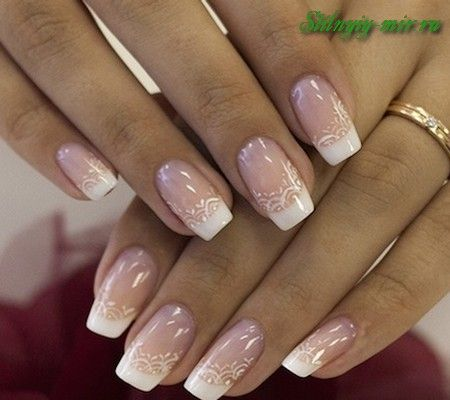 фото ногтей с рисунками френч новинки шеллак