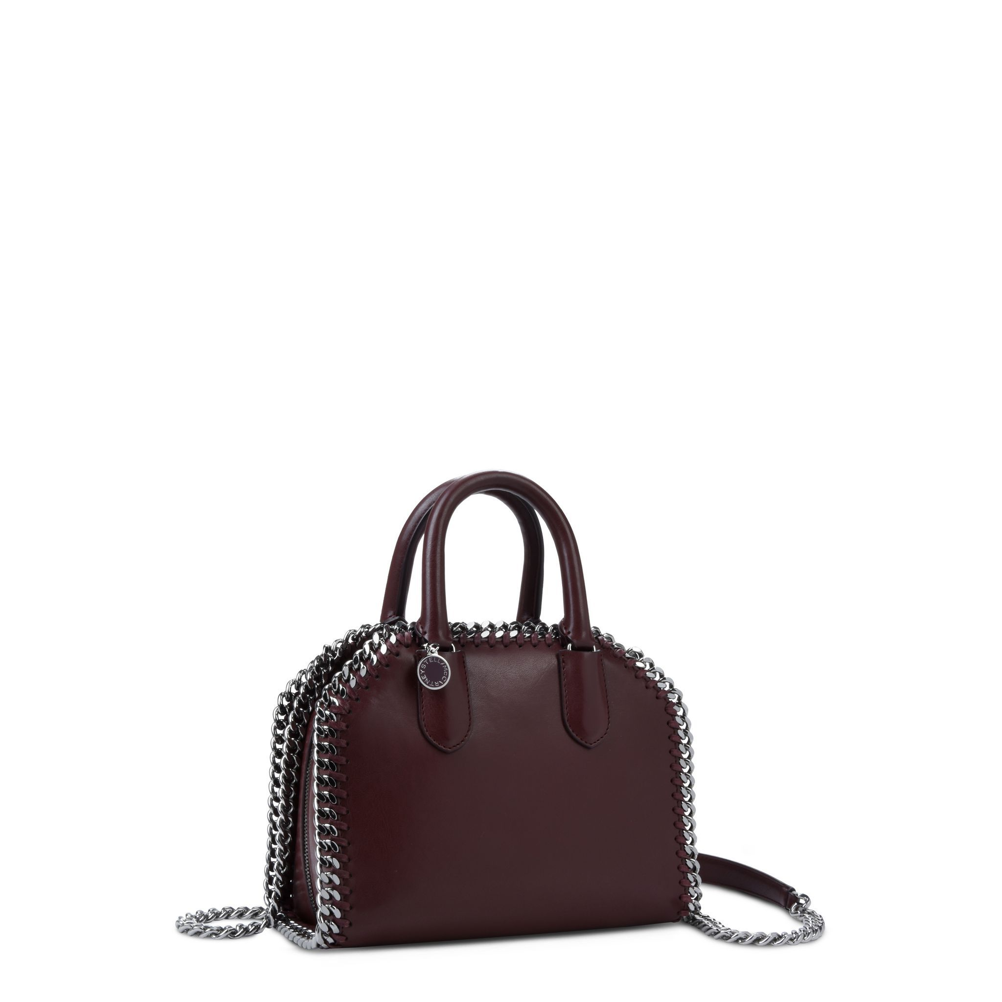 61f95ca9e7 Burgundy Falabella Box Mini Top Handle Bag - Stella Mccartney ...