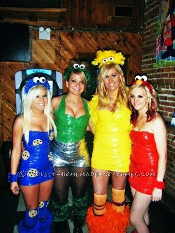 Drop Dead Awesome Sesame Street Gang Costumes Pinterest Sesame - different halloween costume ideas