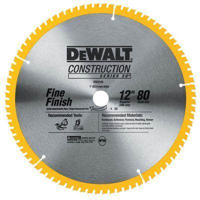 Dewalt Dw3128 12 Inch 80 Teeth Carbide Construction Saw Blade Circular Saw Blades Saw Blade Dewalt Circular Saw