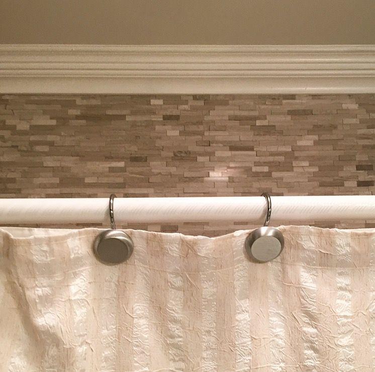 tile above bath shower insert in guest
