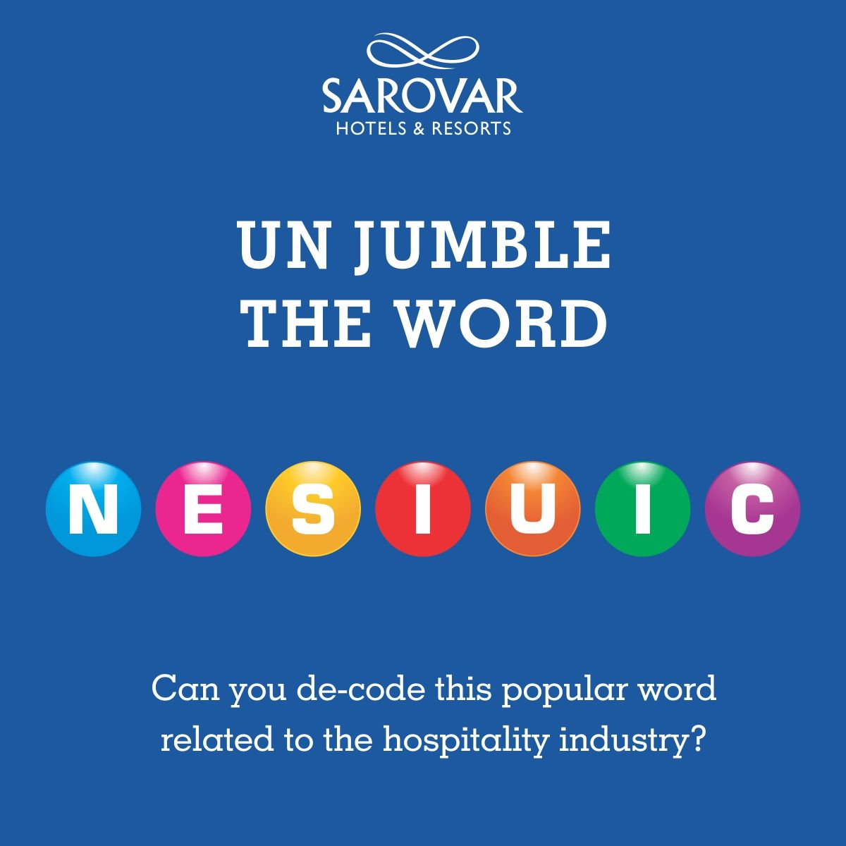 Can You De Code This Popular Word Related To The Hospitality