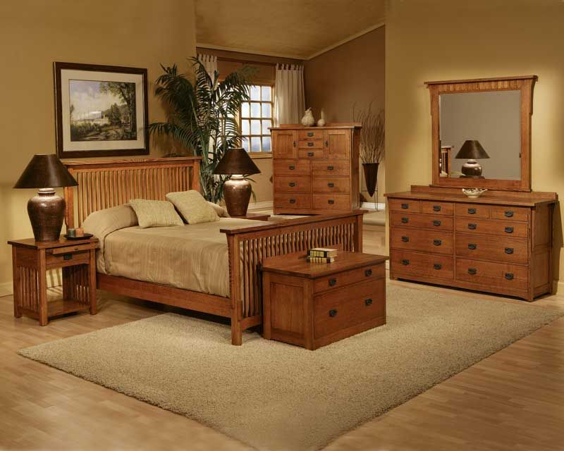 Trend Manor Mission Spindle Bedroom Collection Comes In Multiple Finishes