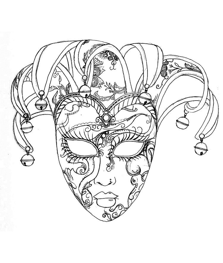 Venice Carnival Mask Coloring Pages Coloring Pages For Kids