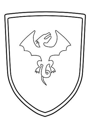 Ritterschild Malvorlage zum Ausdrucken (Wappenschild