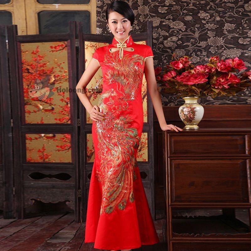 Mermaid Qipao Chinese Wedding Dress Traditional Chinese Wedding Dress Traditional Chinese Wedding