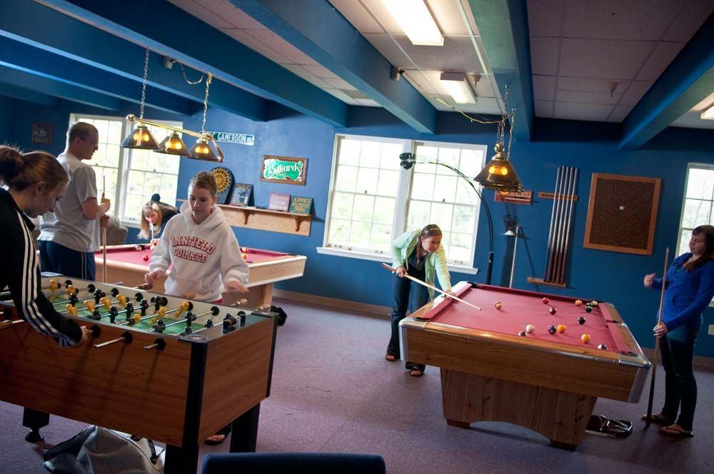 Campus Map Linfield College Game Room In Riley Center Looks