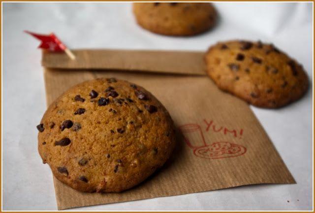 DONNA CARAMELLA: Pompoen-chocolatechip koekjes
