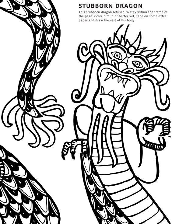 Cultural Activity Printout: Stubborn Dragon | Dragons, Dragon puppet ...