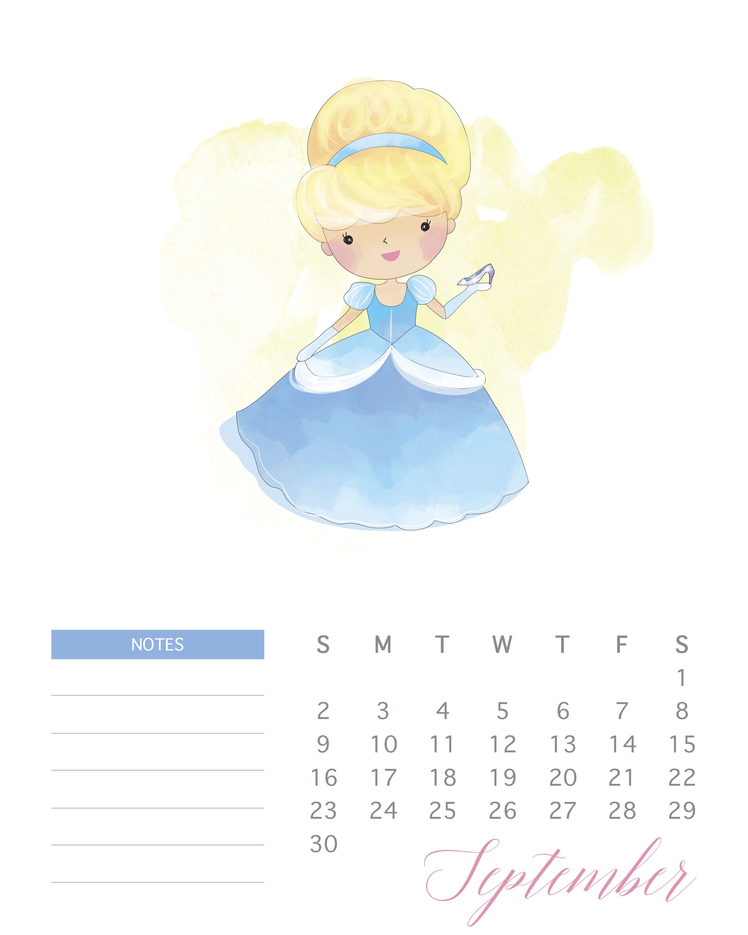 Princess-2018-9-September.jpg 2,400×3,000 pixeles | Calendario 2018 ...