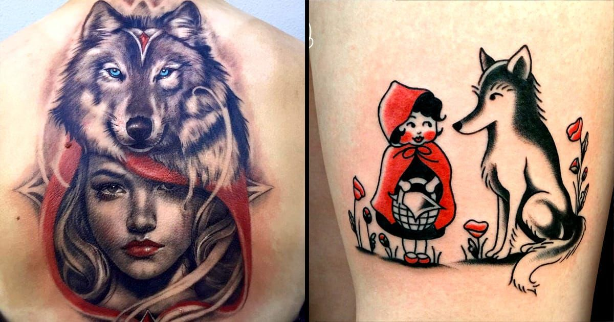 20 Wise Little Red Riding Hood Tattoos Red Riding Hood Wolf Little Red Ridding Hood Red Riding Hood Art
