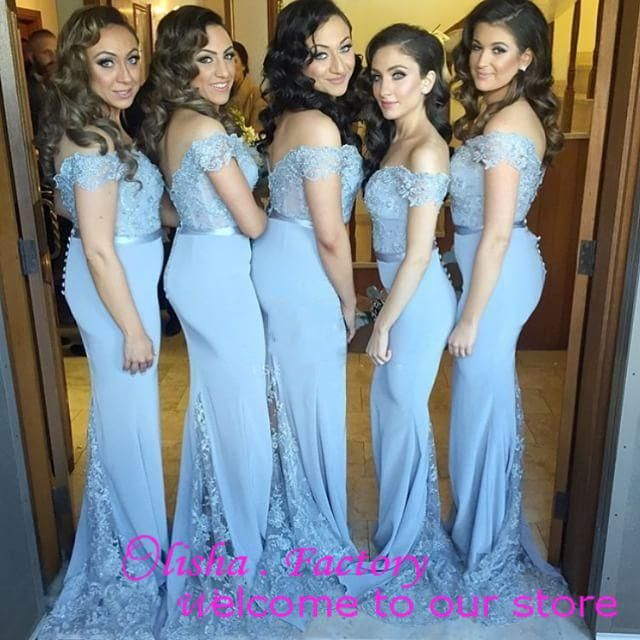2016 New Arrival Mint Blue Bridesmaid Dresses With Lace Off The ...