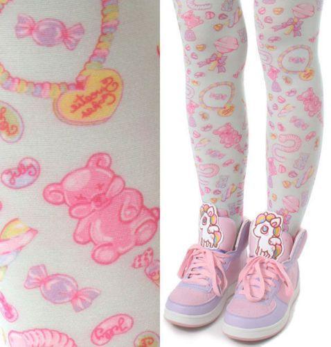 c674516fe3d2a Harajuku-Decora-Kawaii-Lolita-Mint-Pastel-Dream-Lollipop-Jelly-Bean-Candy- Tights