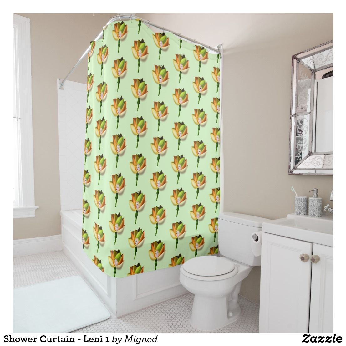 Little Flower Girl Shower Curtain Zazzle Com Curtains Kids