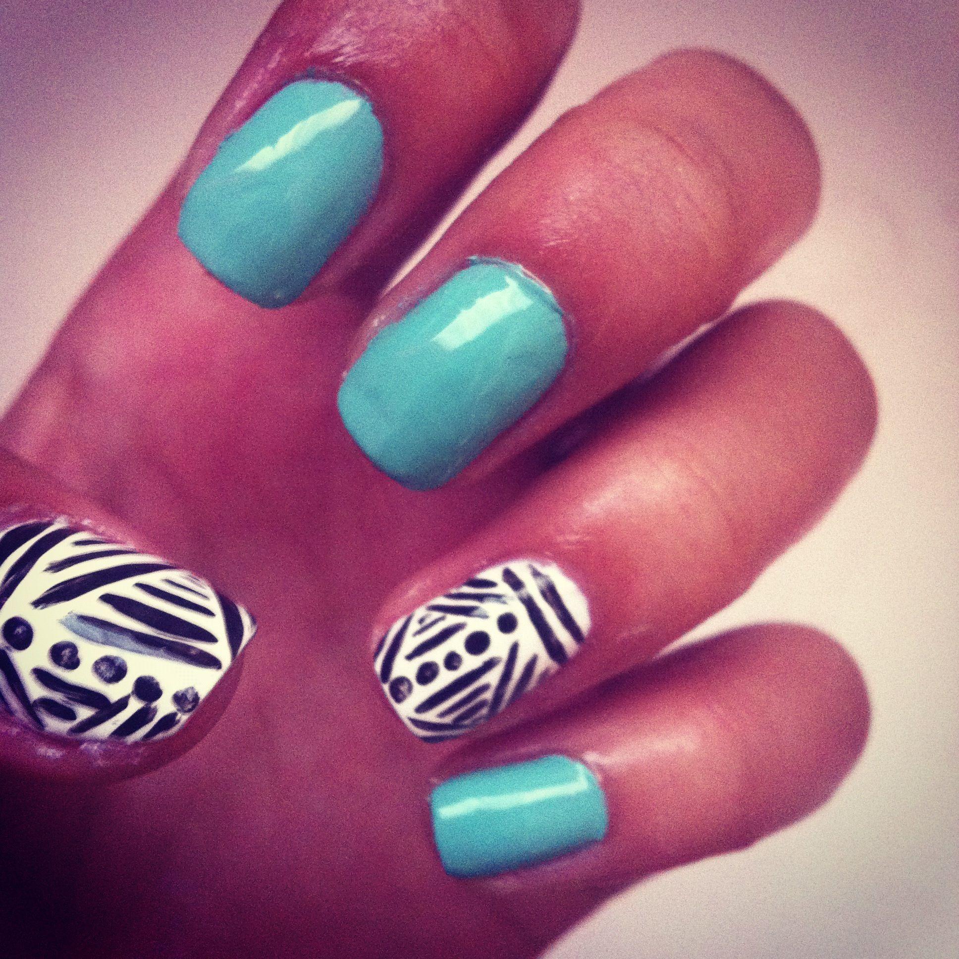 aztec nail design | nails | Pinterest | Aztec nail designs, Aztec ...
