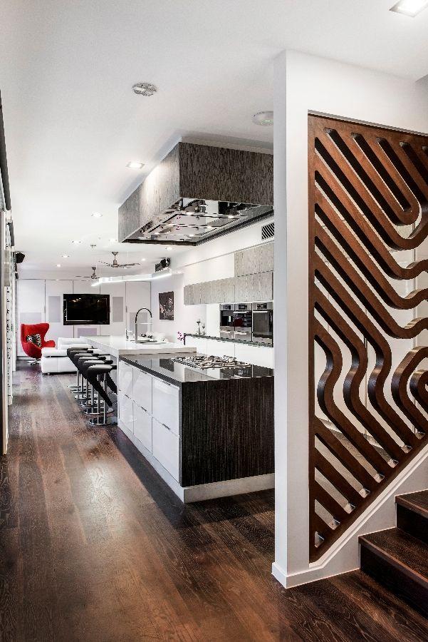 Detalles de diseño de una moderna cocina