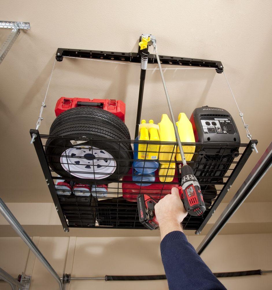 Lifted Storage Rack Garage Platform Ceiling Roof Elevator