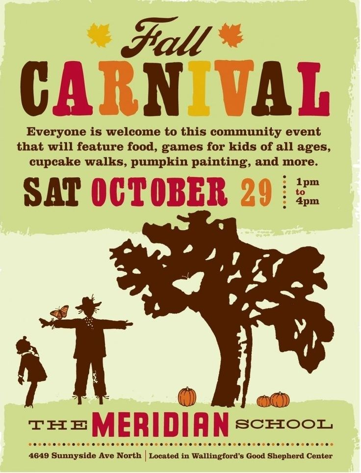 Really great example of a fall carnival flyer: Meridian ...