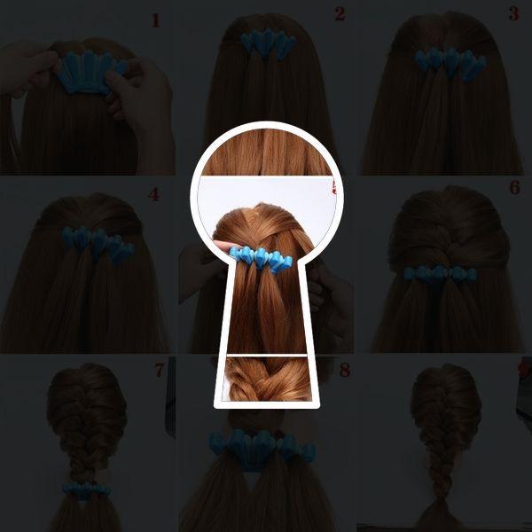 1pcs Fashion Women DIY Sponge Hair Braider Plait Twist Clip Hair Styling Tools Hair Accessories Color Randomly Send   Wish Gallery