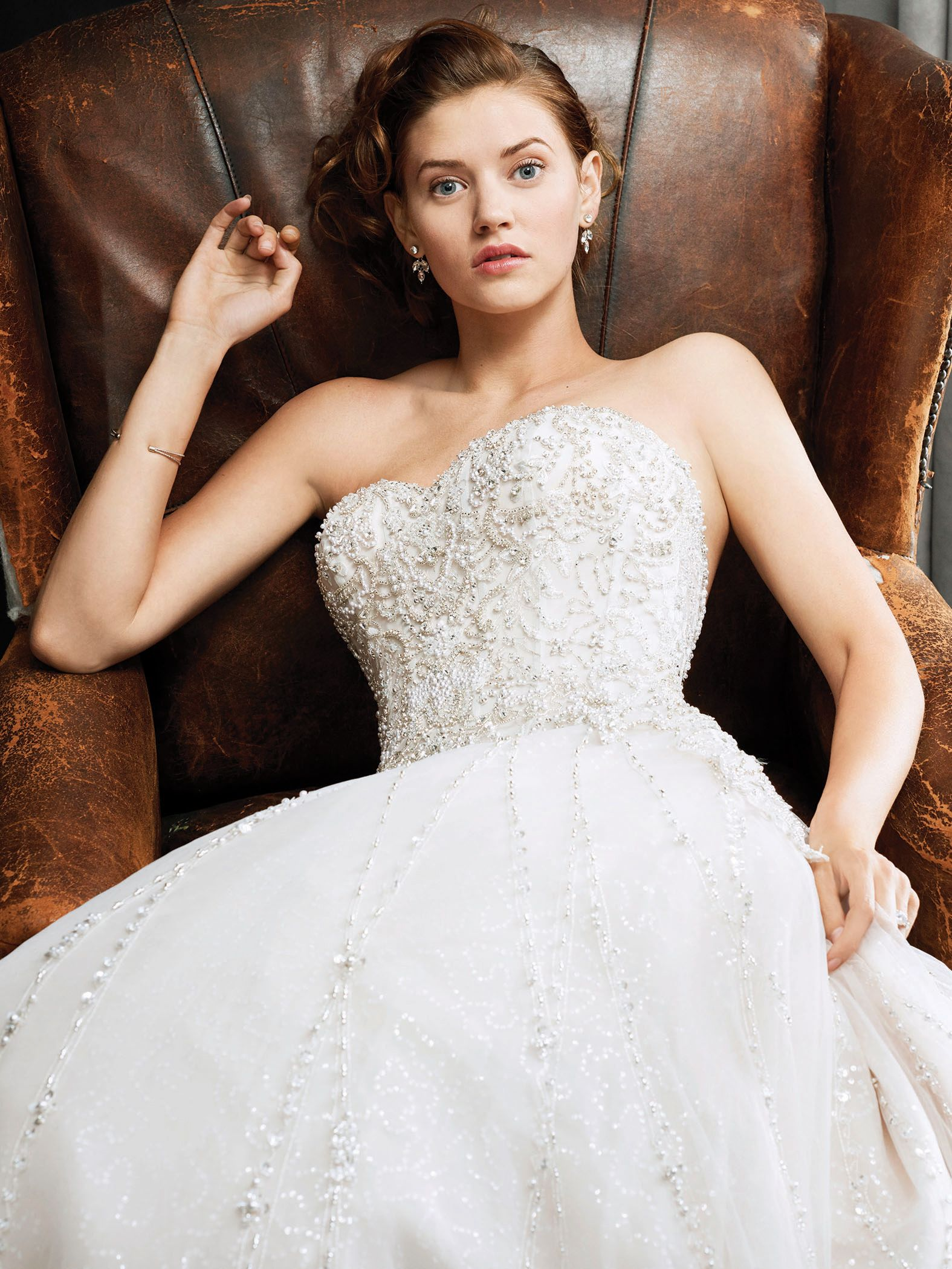 Kenneth Winston Style 1725 | exquisite beaded gown with illusion ...