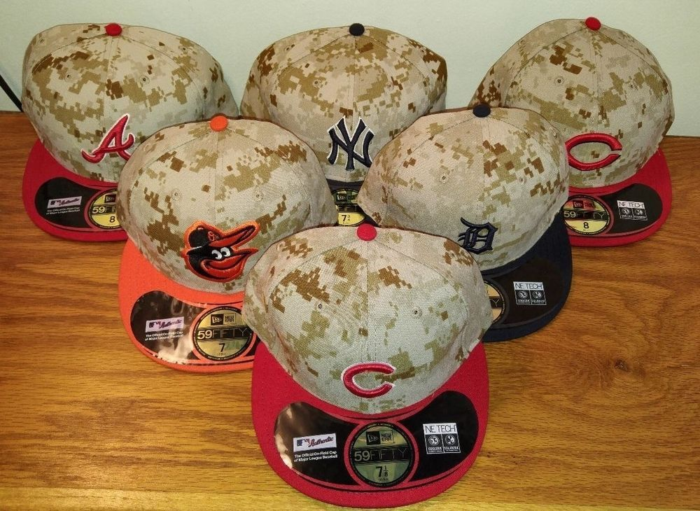 reputable site a0cc8 5b89f New Era 59Fifty 5950 Digital Camo Memorial Day MLB Hat Cap Fitted CHOOSE  TEAM  NewEra  59Fifty