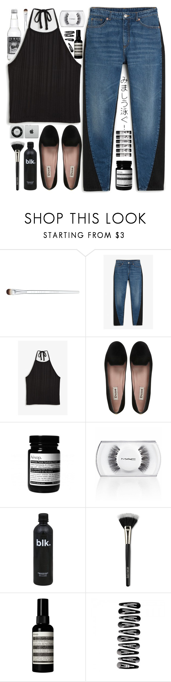 """""""Would you be my Paradise?"""" by my-black-wings ❤ liked on Polyvore featuring Liz Earle, Monki, Dune, MAC Cosmetics, Laura Mercier and Aesop"""