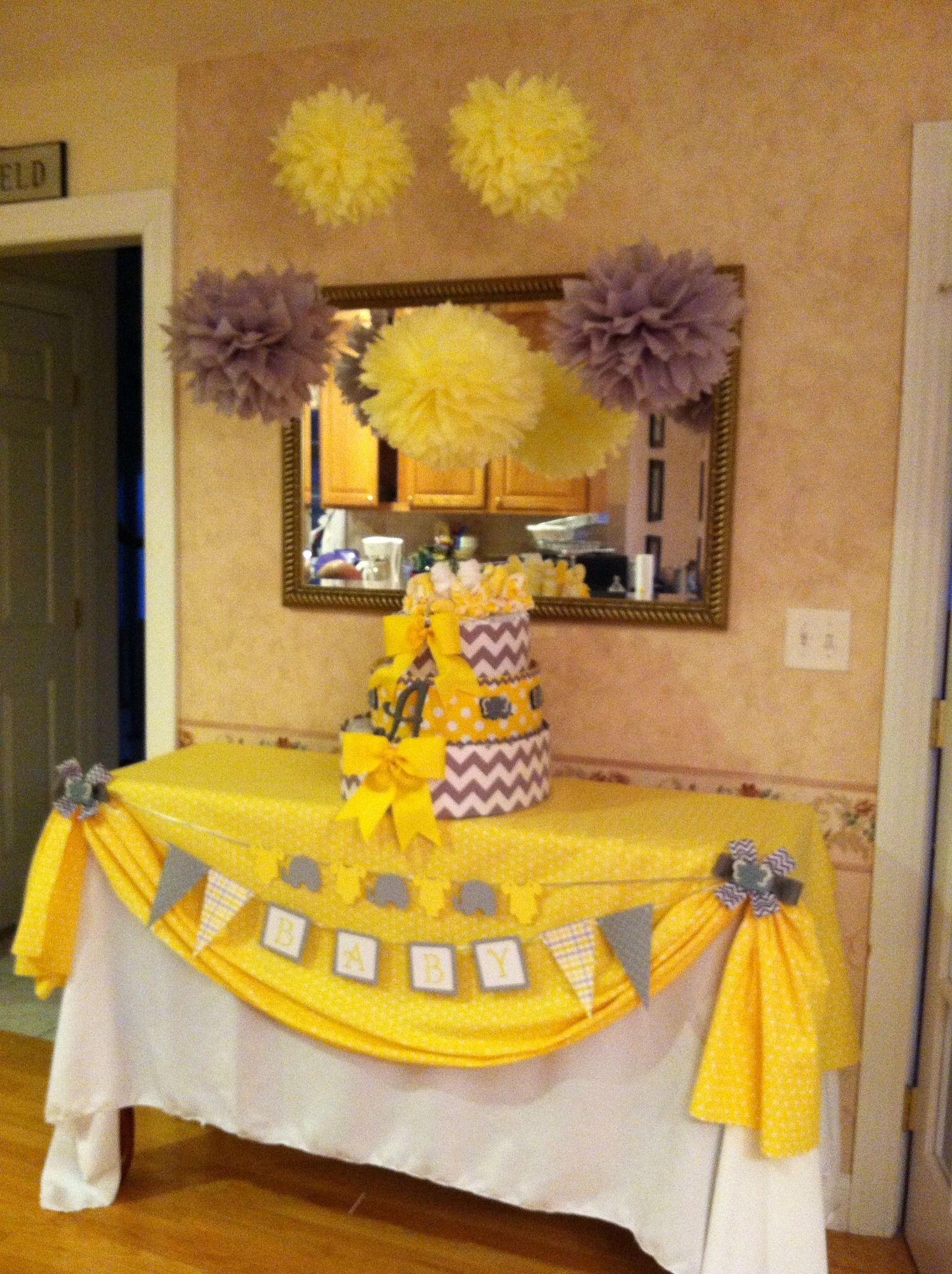Pin By Rachel Scarborough On Birthday Party Ideas Baby Shower Table Cloths Party Table Cloth Bee Baby Shower