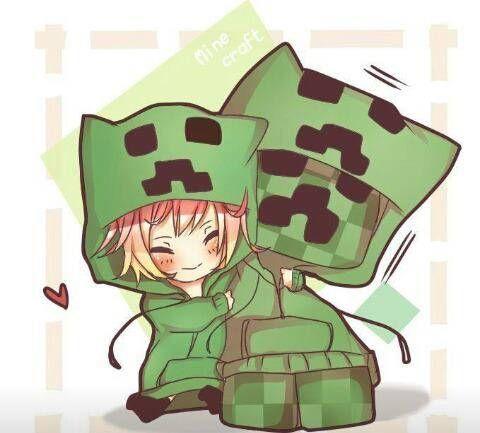 Cute Minecraft Creeper Minecraft Anime Minecraft Drawings Minecraft Anime Girls
