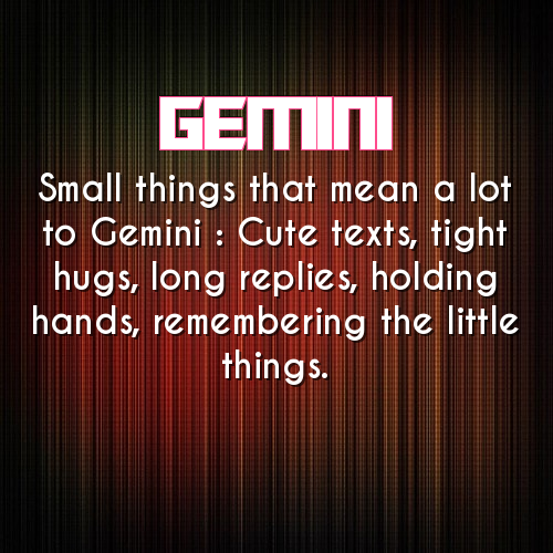 Gemini Holding Hands