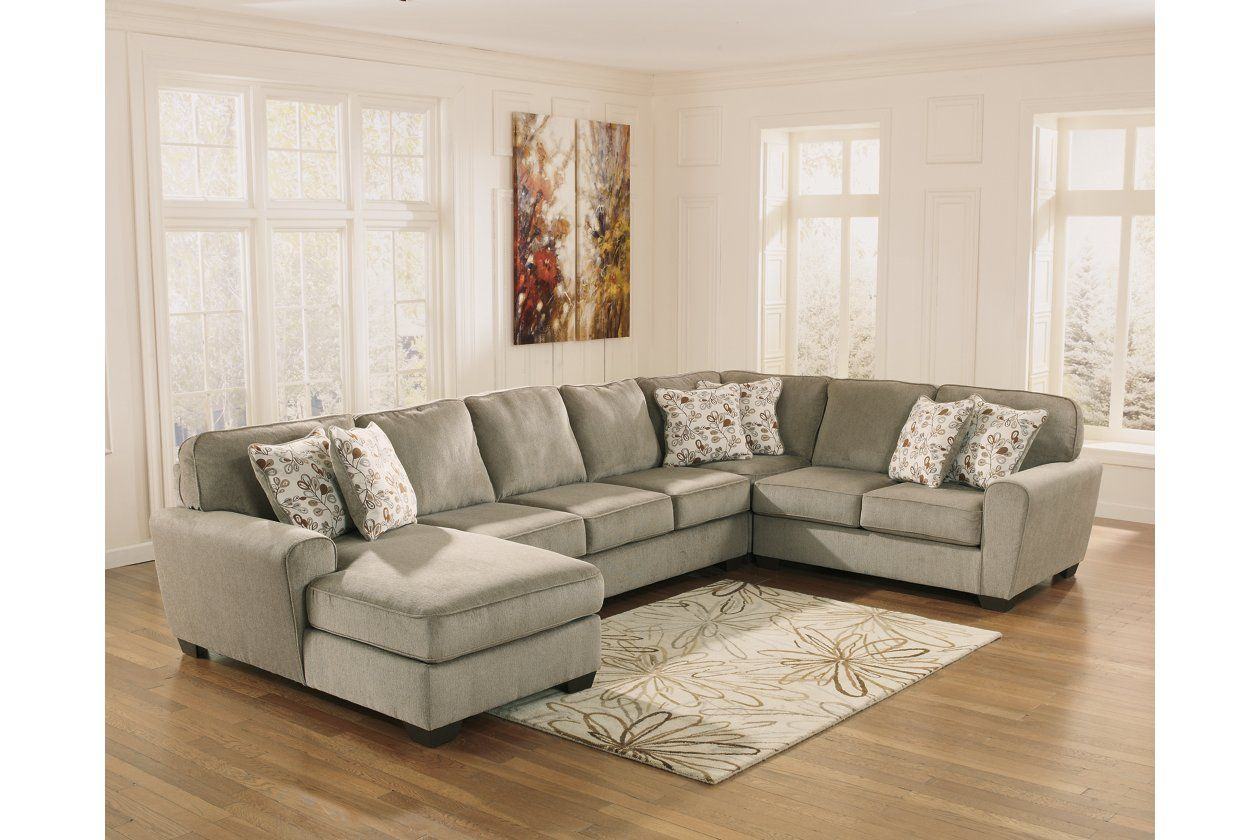 Patola Park 4 Piece Sectional With Chaise Ashley Furniture Homestore Furniture Cheap Living Room Sets Ashley Furniture