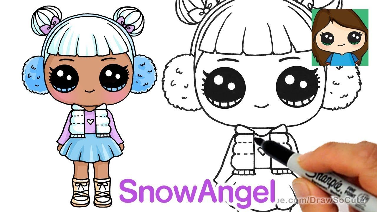 How to draw snow angel lol surprise doll