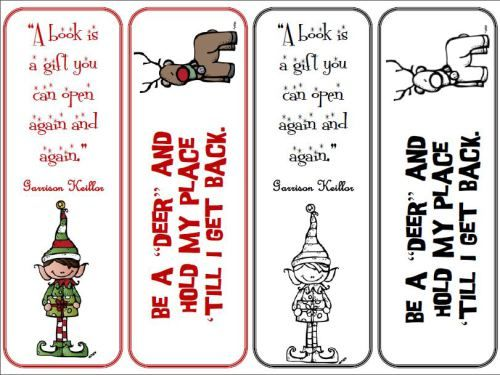 Amazing Christmas Bookmarks In Christmas Bookmark Templates