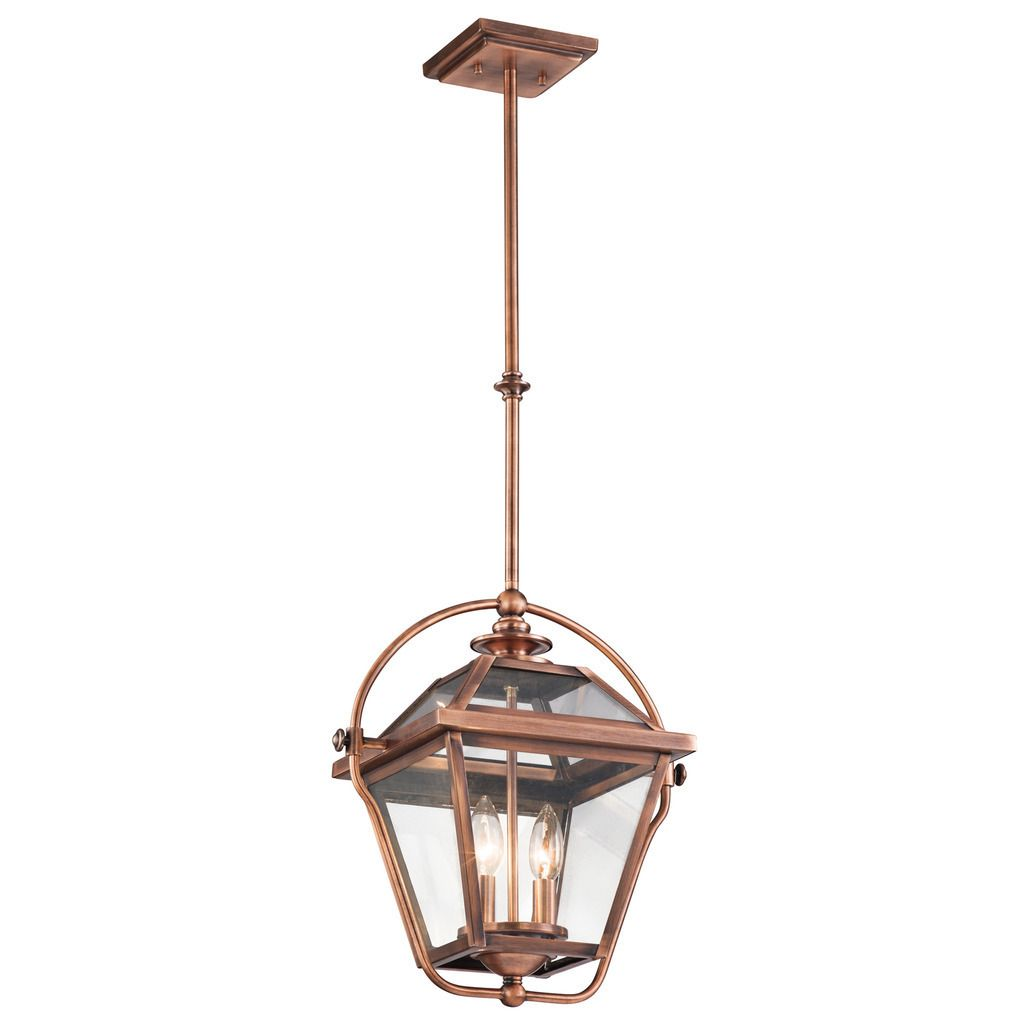 This Ryegate collection 2-light indoor lantern pendant features a ...