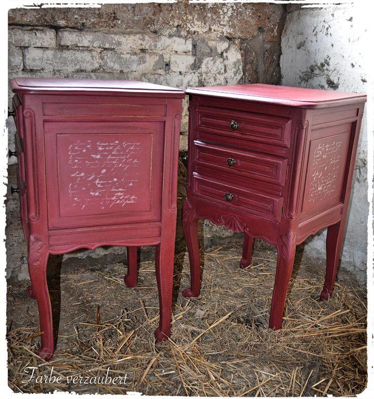 burgundy antique buffet Google Search Bemalte möbel