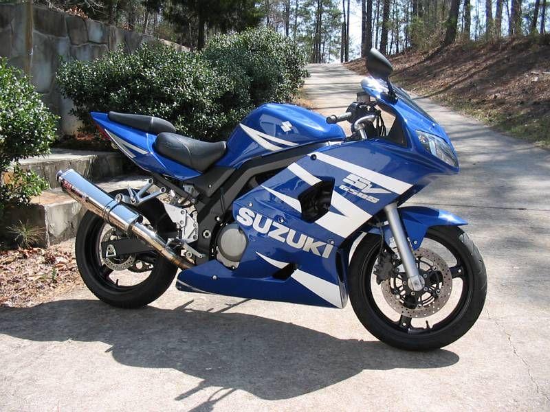 Suzuki Sv650 With Gsxr Stripes Suzuki Motorcycle Beginner
