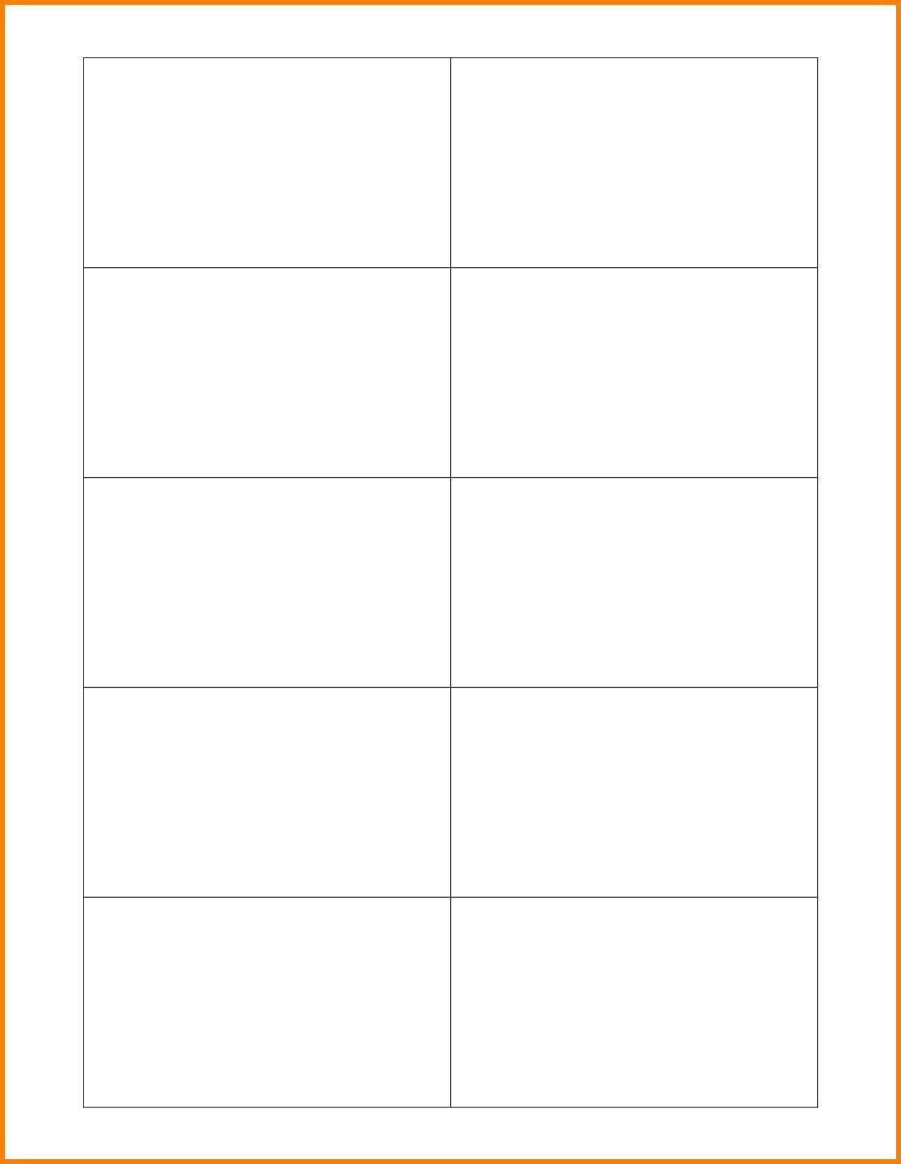 Microsoft business card template blank